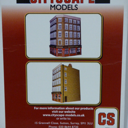 FIRE BRIGADE MODELS 1/76 Scale City Scape card building kits